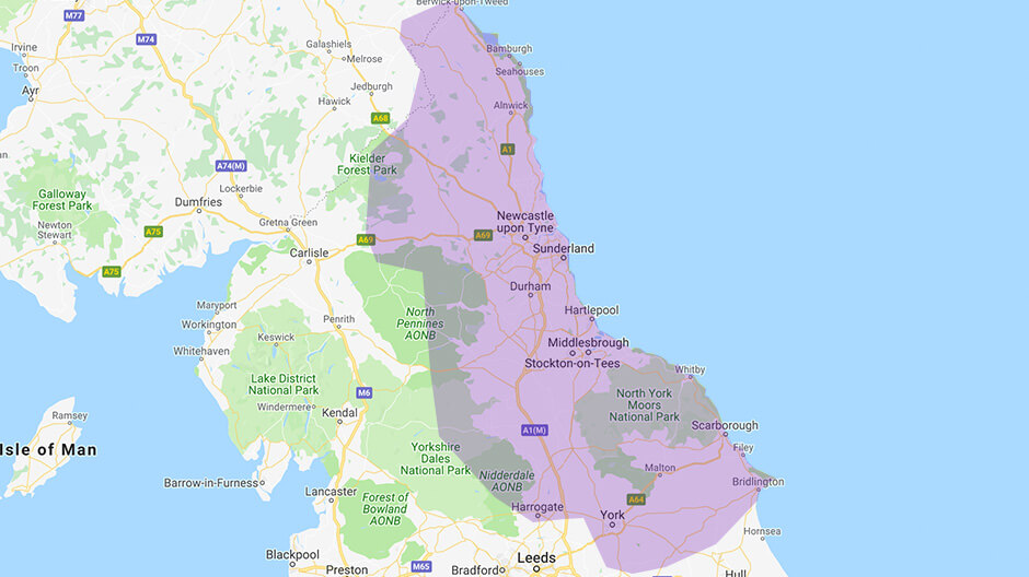 Areas we cover - North East