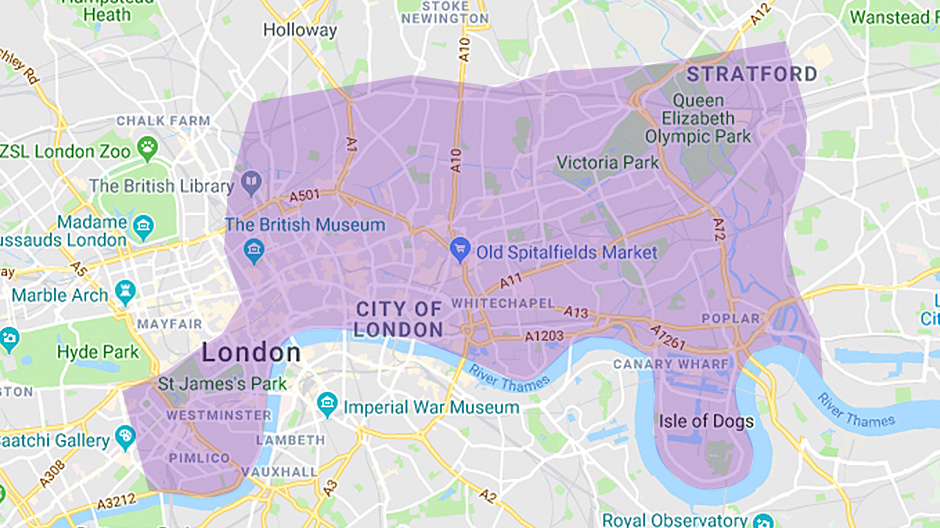 Areas we cover - City of London