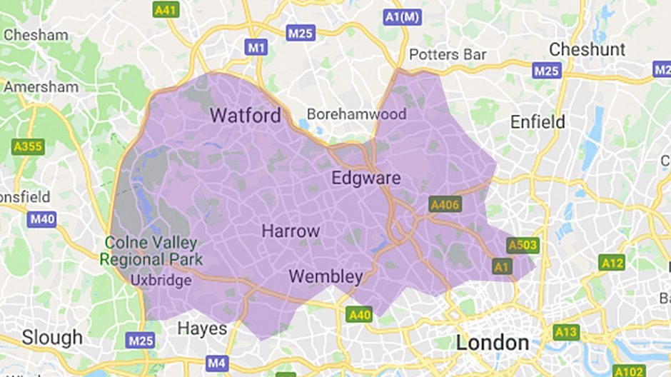 Areas we cover  - London North West