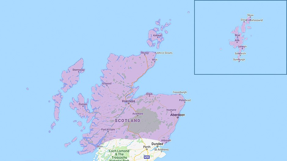 Areas we cover - North Scotland