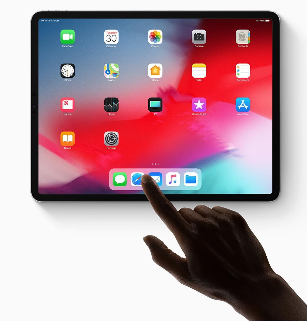 Image of someone using the new iPad Pro