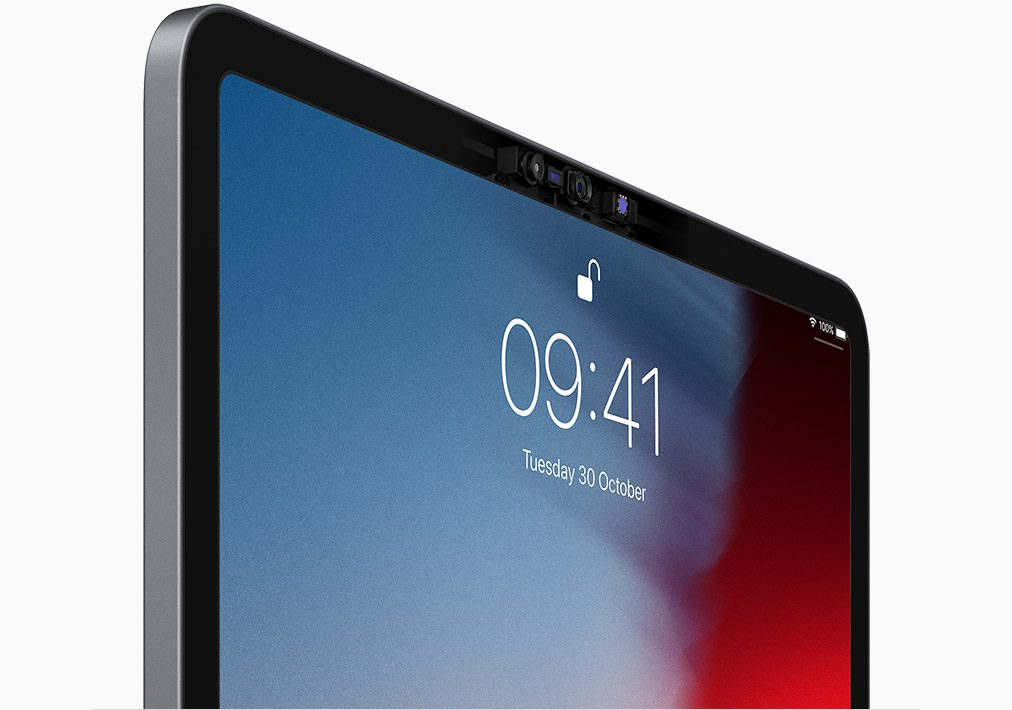 Image of top of iPad lock screen