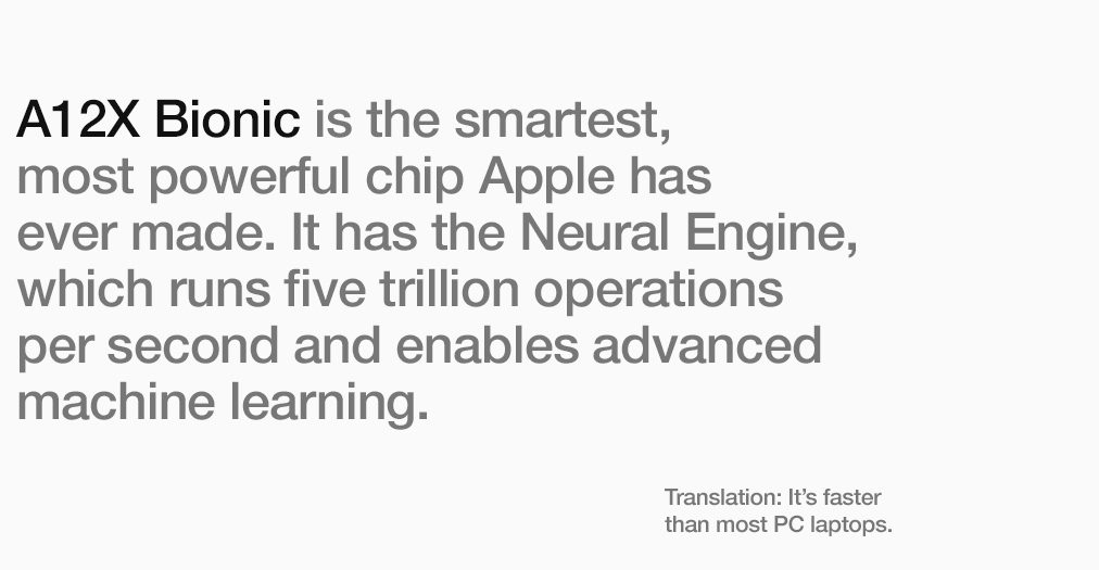 A12X Bionic is the smartest, most powerful chip Apple has even made