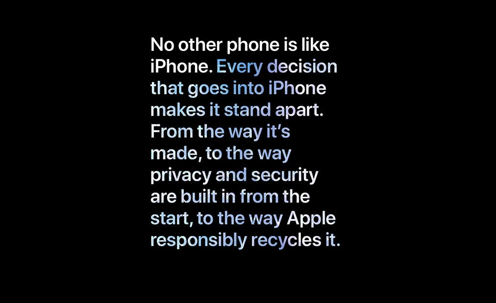 No other phone is like iPhone.