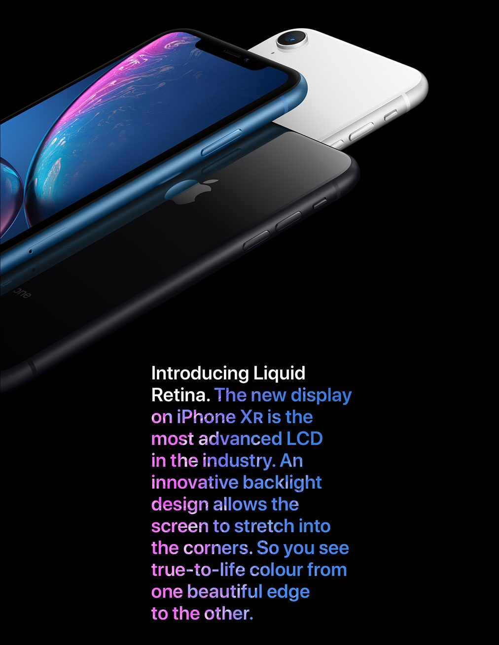iPhone XR. Introducing Liquid Retina.