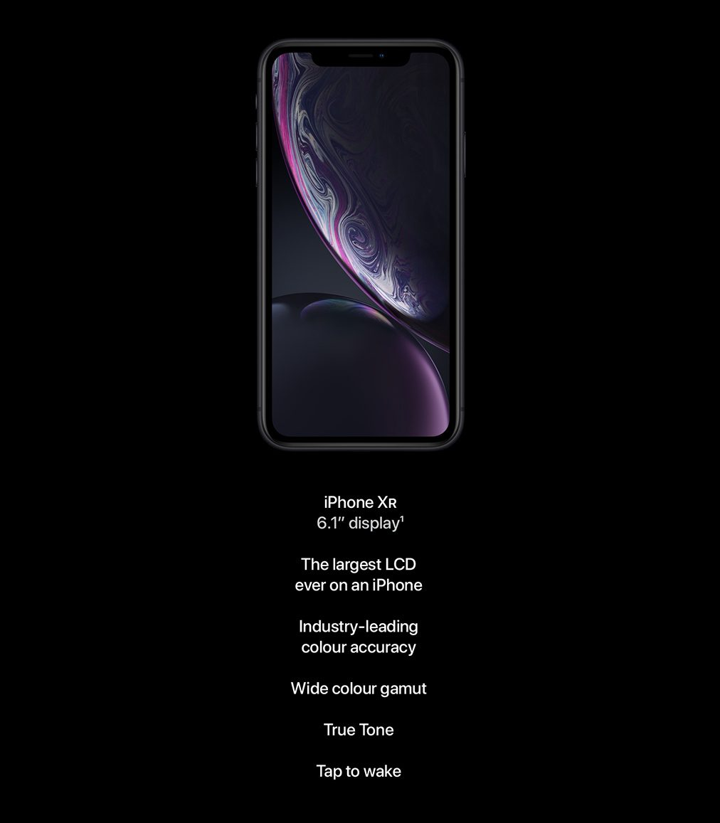 iPhone XR. 6.1-inch display.