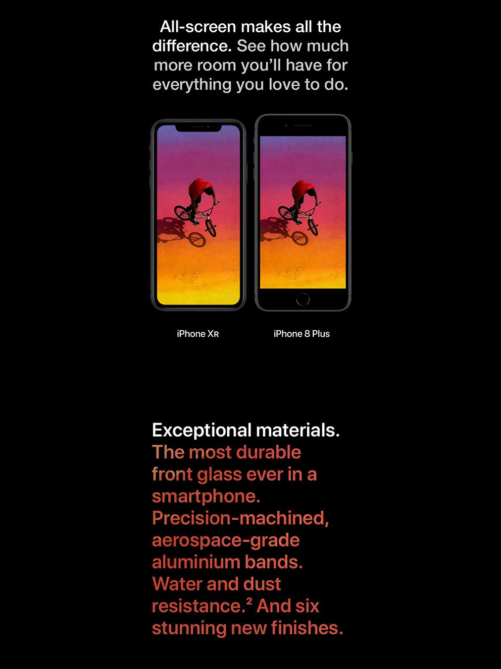 iPhone XR. Exceptional materials.