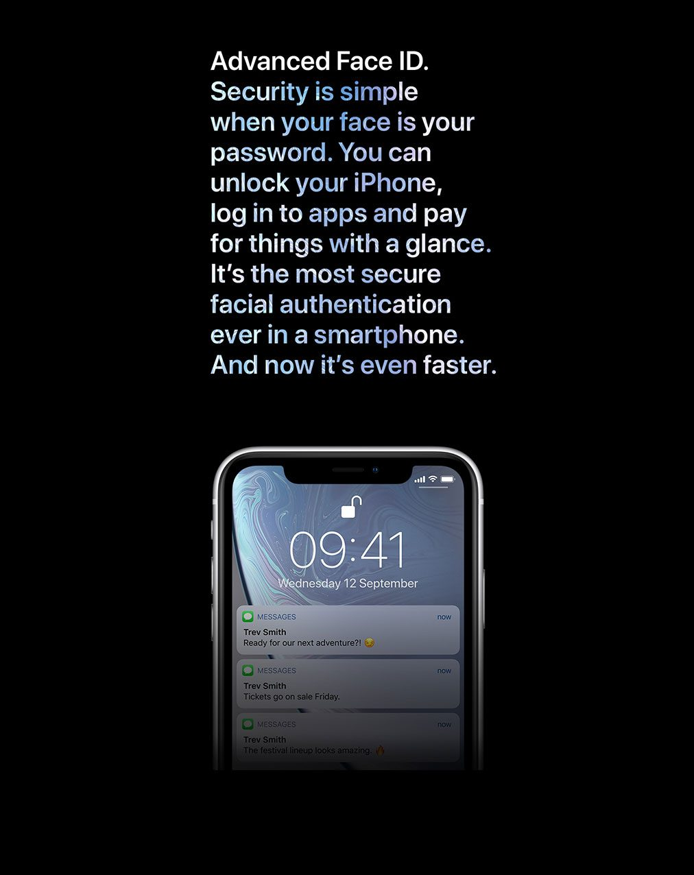 iPhone XR. Advanced Face ID.