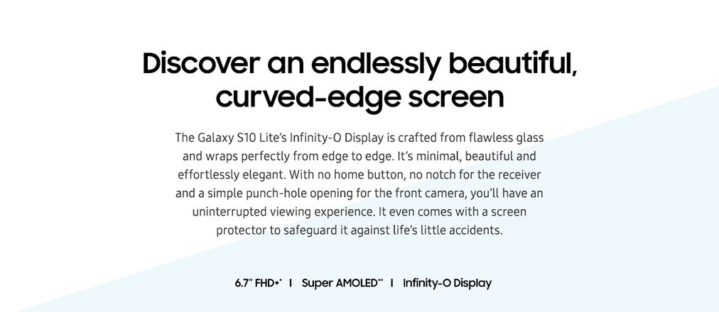 Discover an endlessly beautiful, curved-edge screen