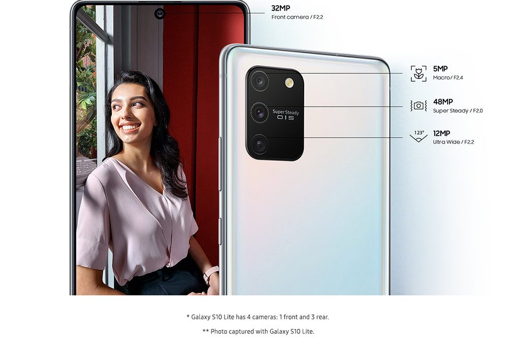 Galaxy S10 Lite has 4 cameras: 1 front and 3 rear