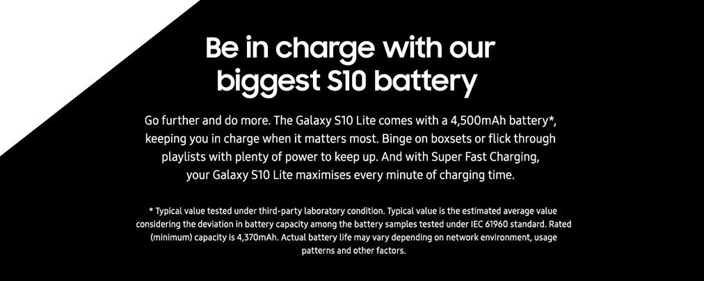 Be in charge with our biggest S10 battery